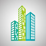 Immobiliendesign, Gebäude und Stadtkonzept, editable Vektor Stockfotografie