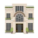 Immobiliendesignhotelgebäude- und Hotelgebäudevektorsatz Lizenzfreies Stockbild