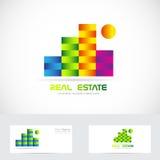 Immobiliengebäudelogo Stockfotos
