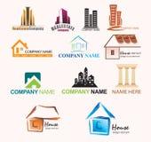 Immobiliengesellschaft Logo Template Lizenzfreie Stockfotos