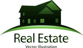 Immobilienlogo Stockfoto