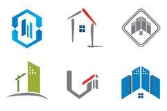 Immobilienlogosatz Lizenzfreie Stockfotografie