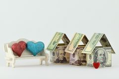 Immobilienmarkt, eine wohlhabende Zukunft Stockfoto