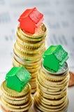 Immobilienmarkt: Verkauf und Kauf Lizenzfreies Stockbild