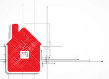 Immobilienstadtstromkreisspiegel-Geschäftshintergrund Lizenzfreie Stockbilder