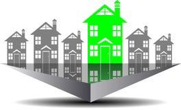 Immobiliensuche der Ikone Lizenzfreies Stockbild