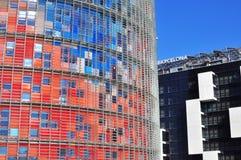 Immobiliers commerciaux dans le secteur de gloires de Barcelone, Espagne Photos libres de droits