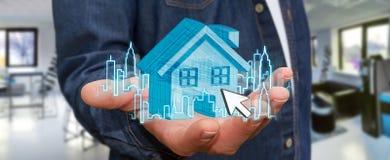 Immobiliers d'homme d'affaires Photos libres de droits