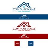 Immobiliers de toit de maison de logo, construction illustration libre de droits
