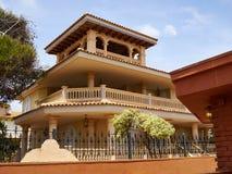 Immobiliers Espagne de maison espagnole traditionnelle de style Images libres de droits
