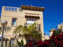 Immobiliers Espagne de maison espagnole traditionnelle de style Photographie stock libre de droits