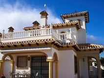 Immobiliers Espagne de maison espagnole traditionnelle de style Photo stock