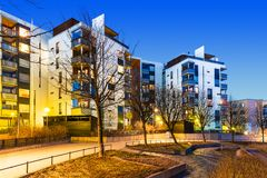 Immobiliers modernes Photo stock