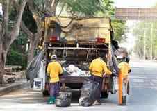 Immondizia del camion Fotografie Stock