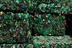 Immondizia di plastica della bottiglia dell'animale domestico Fotografia Stock