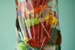 Immondizia di plastica Riciclaggio della plastica immagine stock libera da diritti
