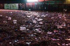 Immondizia dopo il concerto Immagini Stock