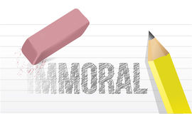 Immoral to moral illustration design. Over a white background Stock Photography