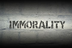 Immorality WORD GR Royalty Free Stock Images