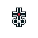 Immortal God conceptual logo design combined with infinity loop. Sign and Christian Cross, vector creative symbol Royalty Free Stock Image