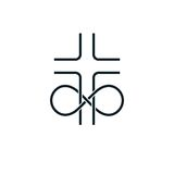 Immortal God conceptual logo design combined with infinity loop. Sign and Christian Cross, vector creative symbol Royalty Free Stock Photography
