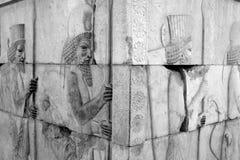 Immortal, Persepol, Iran. `Immortals `- the guard of the king of Persia Stock Image