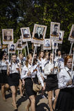 Immortal Regiment on annual Victory Day Royalty Free Stock Photography