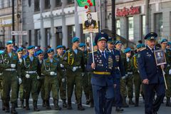 Immortal Regiment march in the Victory Day celebrations. Royalty Free Stock Photos
