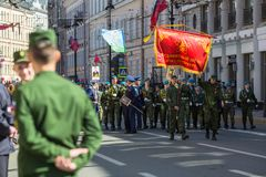 During Immortal Regiment march in the Victory Day celebrations, marking the 73rd anniversary of the victory over Nazi Germany in W Royalty Free Stock Photo