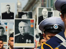 Immortal regiment. Royalty Free Stock Photography