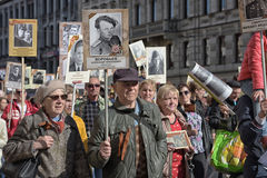 Immortal regiment at the victory parade Stock Image