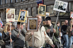 Immortal regiment at the victory parade Royalty Free Stock Images