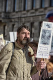 Immortal regiment at the victory parade Royalty Free Stock Photography