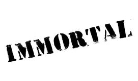 Immortal rubber stamp. Grunge design with dust scratches. Effects can be easily removed for a clean, crisp look. Color is easily changed Stock Photo