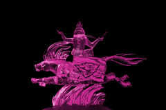 Immortals and Pegasus ice sculpture pink Stock Photos
