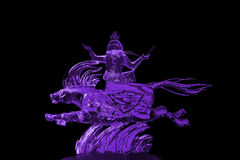 Immortals and Pegasus ice sculpture purple Stock Photography