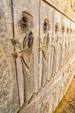 Immortals relief detail Persepolis Royalty Free Stock Photo