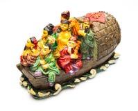 Immortel des histoires chinoises dans le bouddhisme sur les maîtres grands chinois de bateau dans le bouddhisme sur le bateau Photographie stock