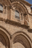 The immovable ladder on the Church of the Holy Sepulchre Royalty Free Stock Photo