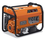 Immovable power generator. Illustration of industrial and home immovable power generator Royalty Free Stock Images