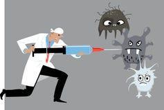 immunisering stock illustrationer