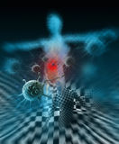 Immunity Against Diseases 3d rendering Royalty Free Stock Photography