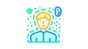 immunity human health color icon animation
