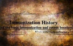 Immunizacji historii formy grunge pojęcie obraz royalty free