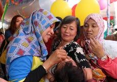 Immunization. Polio immunization for children in a health center in the city of Solo, Central Java, Indonesia Stock Photo