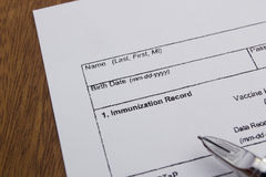 Immunization Record Royalty Free Stock Photography