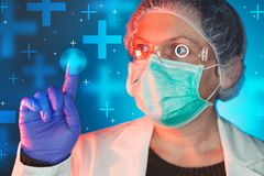 Immunologist or allergist healthcare medical professional stock images