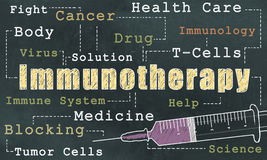 Immunotherapy on Blackboard Stock Photo