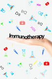 Immunotherapy text Royalty Free Stock Photos