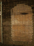 Immured door in brick wall Royalty Free Stock Images